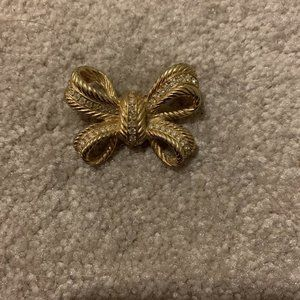 Christian Dior Gold Brooch